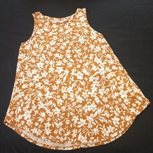 Old Navy Luxe Tank with Floral Fall Autumnal Print